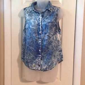 BDG sleeveless button down shirt Sz: S-P